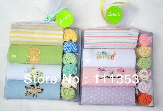 Free shipping! 100% Cotton High Quality 10 Pieces Infant Clothing Short Sleeve Gift Sets Baby Romper 3M/6M/9M/12M<br><br>Aliexpress