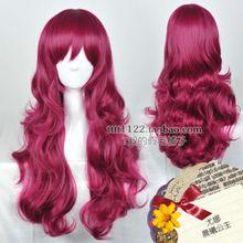 HOT sell Free Shipping *Akatsuki no Yona Princess Beautiful Long Wavy Dark Red Cosplay Wig Hair(China (Mainland))
