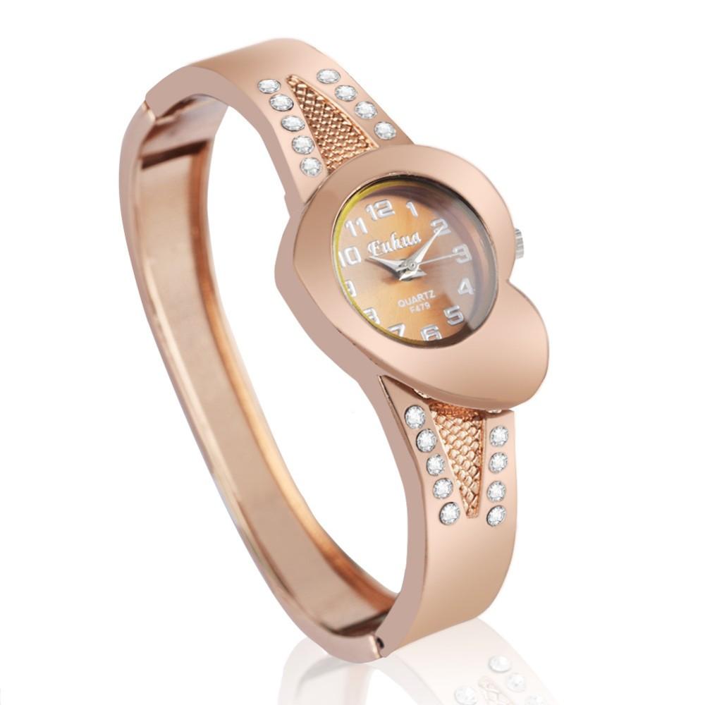 2016 новые часы творческий моды леди любовь розового золота браслет смотреть Корея версия тенденции персонализированные часы