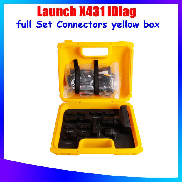 [LAUNCH Distributor] Free Shipping 2015 100% Original Launch X431 iDiag Connector full Set Package X-431 Diagun 3 iii yellow box(China (Mainland))