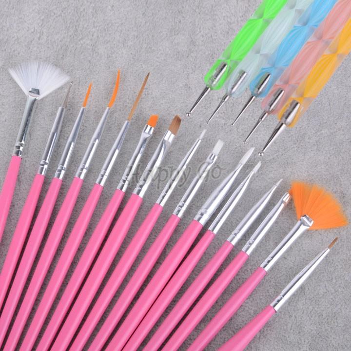 20pc Nail Art Design Painting Dotting Pen Brushes Tool Kit Set: New Drawing Brush Top Quality 20pcs Nail Art Design Set
