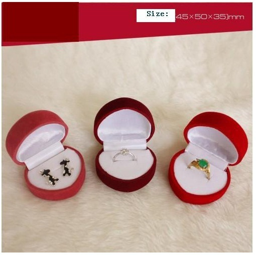 ZHOUYANG Top Quality ZY-JPR001  Velvet PACKAGING Jewelry BOX For Ring and Stud Earring Random Colors