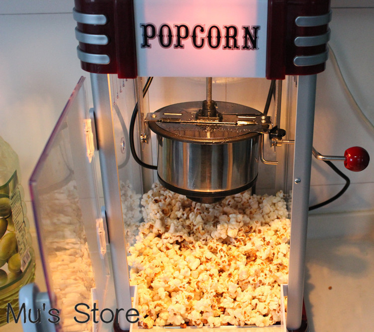 DHL/Fedex/EMS FREE Shipping! Super Retro Commercial Popcorn Machine Pipoca Pop Corn Making Machine 220V&CE/GS Certification(China (Mainland))
