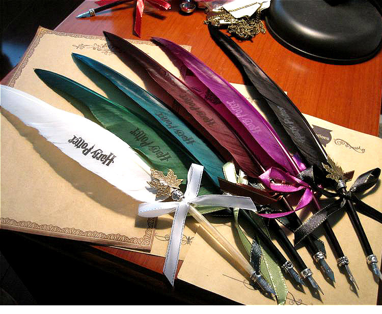 Best gift Harry Potter magic Owl feathers pen without ink 7 colors - Jack's Store 536762 store