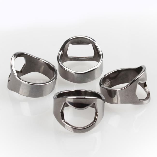 20 Pcs Stainless Steel Silver Finger Rings Bottle Open Opener Bar Beer Tool(China (Mainland))