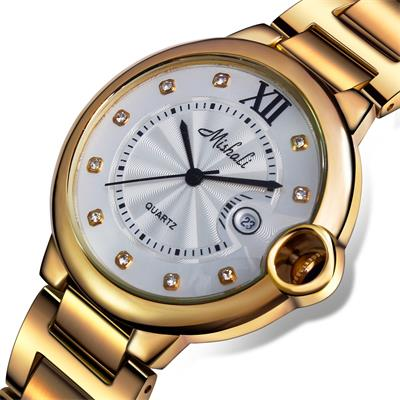 Dc1989 Stainless Steel 18K Ionic Gold Plated  Women  Wrist Watch Quartz Japan GN10-3 High Polished