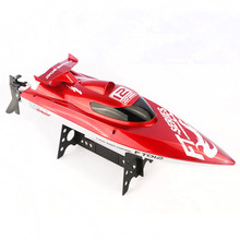 New Arrival FT012 Upgraded FT009 2.4G Brushless RC Remote Control Racing Boat Red(China (Mainland))
