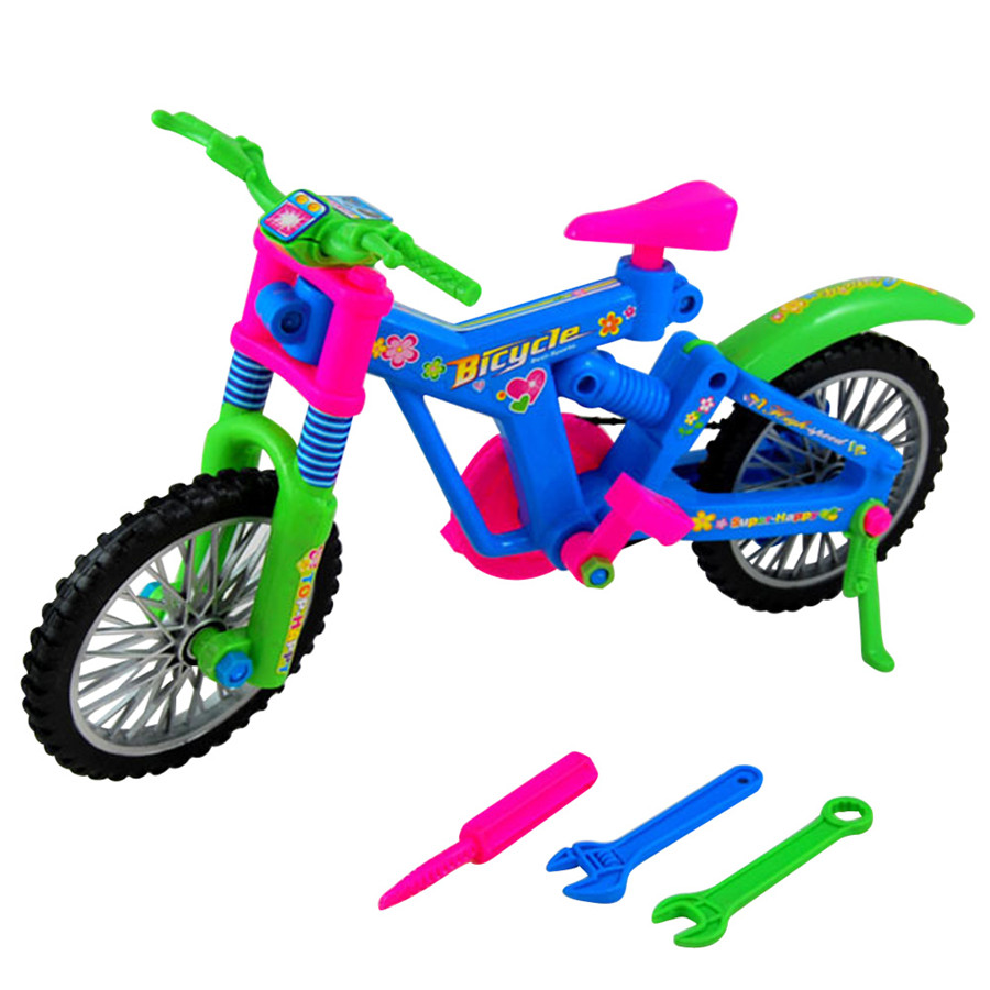 Kids Funny Educational Plastic Toy Simulation Removable Bicycle DIY Assembly Bike(China (Mainland))