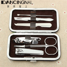 6Pcs/Set Women Professional Eyebrow Clips Nail Manicure Pedicure Finger Clipper Tools Kit Stainless Steal3 Style For Choose(China (Mainland))