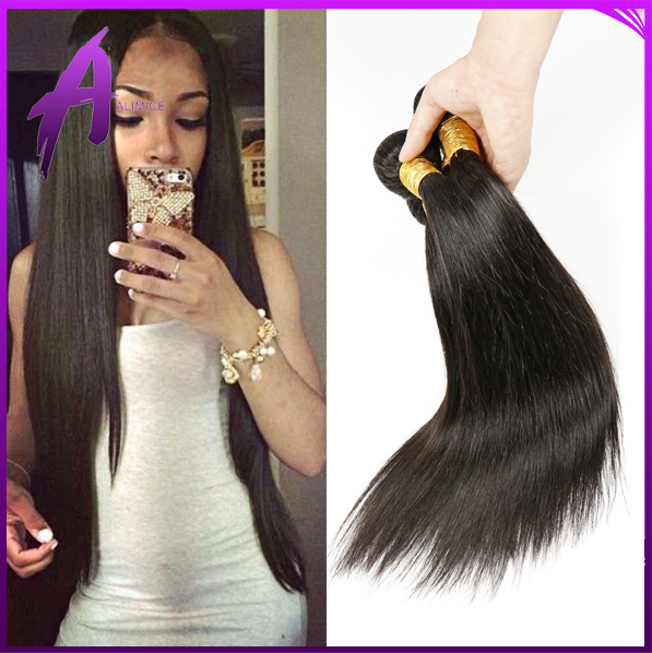 Virgin Straight Hair Weave Peruvian Virgin Hair Straight Virgin Hair Bundles 100g piece Peruvian Straight Human Hair 3pcs lot