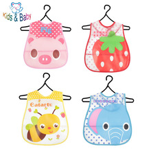 Baby & Kids Cute Cartoon EVA Bibs Waterproof Bandana Silicone Children Baby Bibs Boys Girls Infants Burp Clothes Feeding Care(China (Mainland))