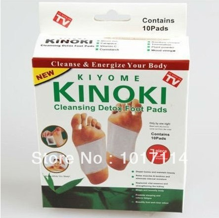 2014 new Free shipping Foot Patch Kinoki Detox Foot Pads Patches With Adhersive (3box=30pcs) With Box Good Quality(China (Mainland))