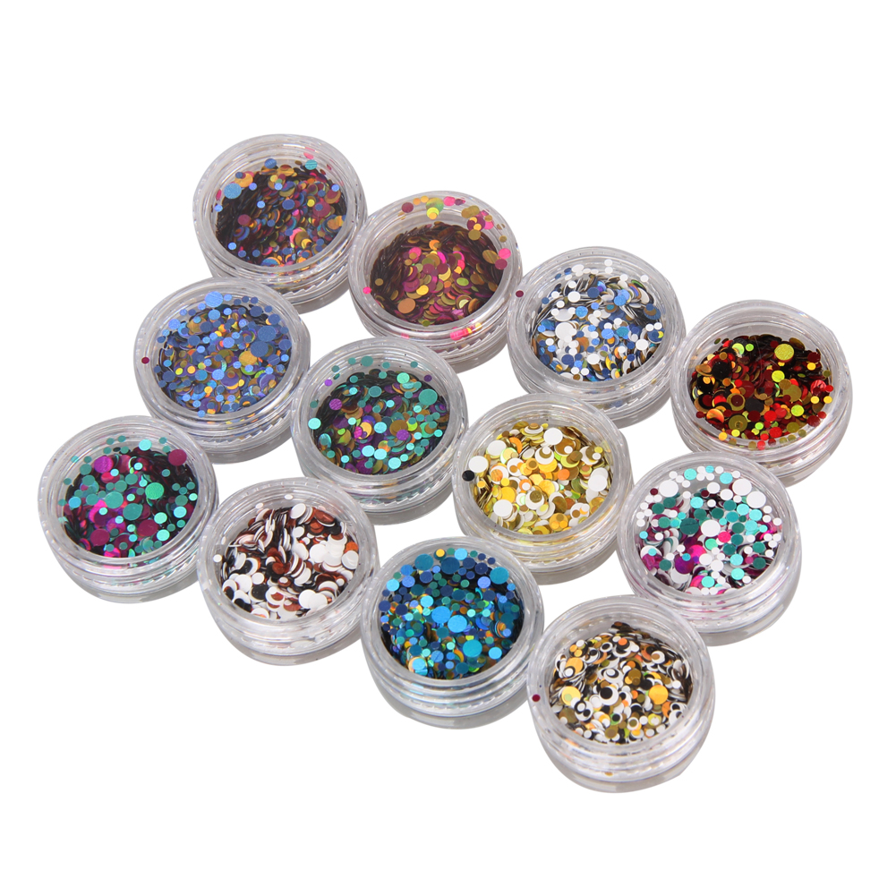 12pcs Laser Nails Sticker Decals Mix Color Nail Rhinestones Glitter Manicure Tips Stickers Stamping DIY Nail Art Decorations(China (Mainland))