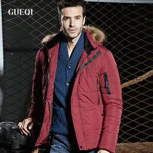 Icebear men coats thick degree mens red fur hood jacket original parka coats for men napapijri clothing male winter jacket GQ223