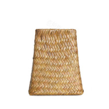 Classic modern style hand woven vase straw 4 color choose tabletop vase for home wedding decoration free shipping(China (Mainland))