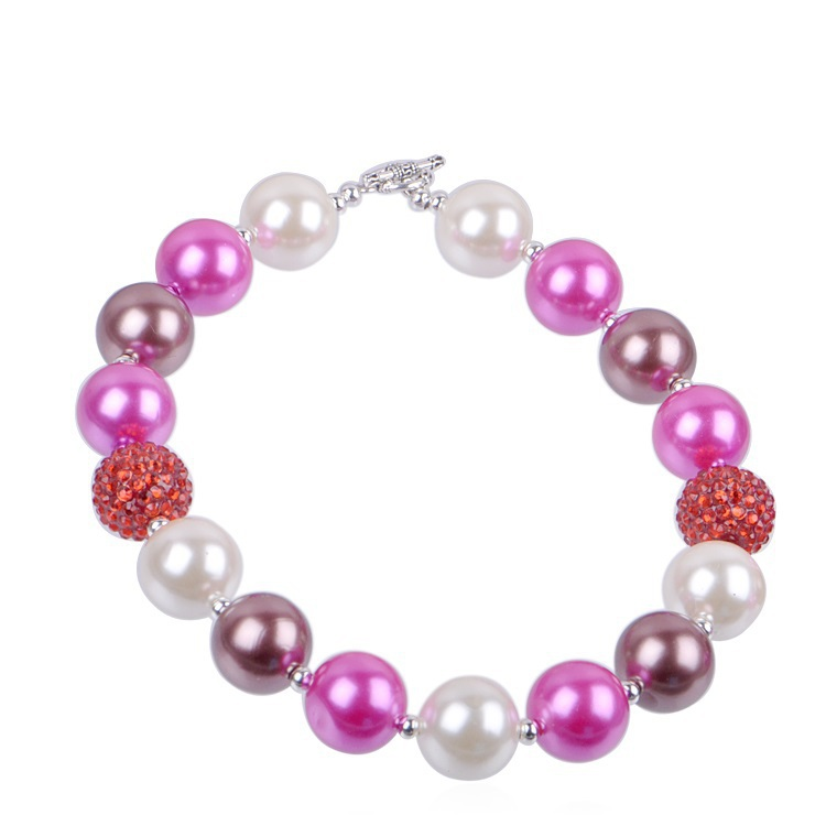 2015 Fashion Jewelry  Supplies little Girls Chunky Necklace Cheap Kids Chunky Bubble Necklaces For Little Baby Girls(China (Mainland))