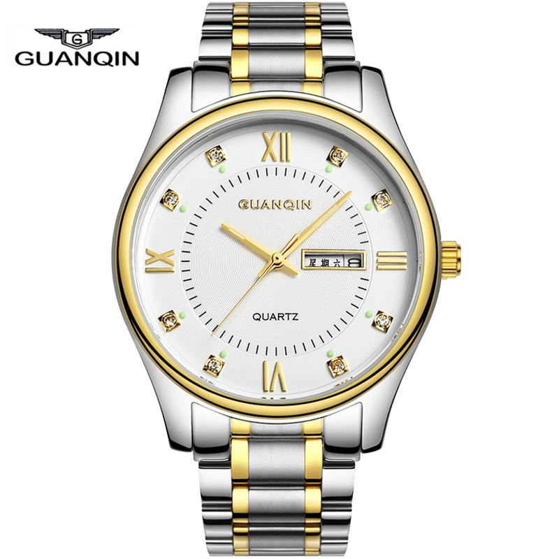 GUANQIN Business Watches Men Top Brand Luxury Quartz Watches Men Full Steel Calendar Waterproof Fashion Watch Relogio Masculino<br><br>Aliexpress