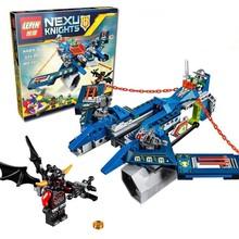 2016 New LEPIN Knights Blocks Aaron Fox's Aero-Striker V2 Set Toy 70320 Minifigure Compatible Legoe - ToyMaster Store store