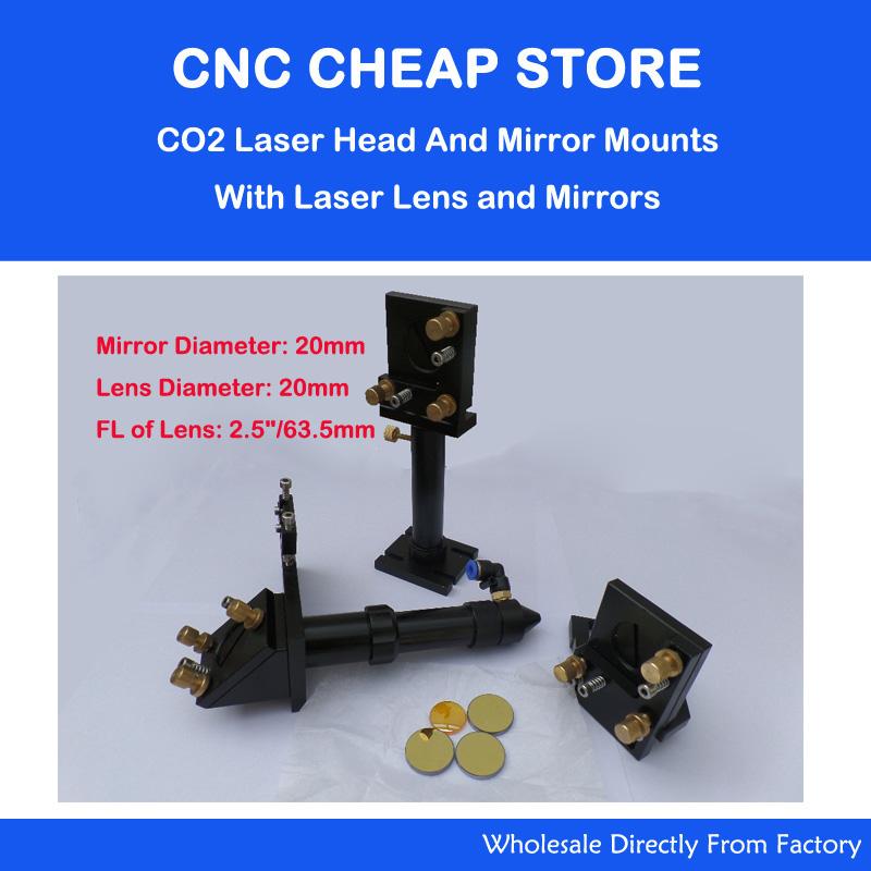 CO2 Laser Head + 20mm Mirror + Znse Focus Focal Lens Integrative Mounts Optical Part(China (Mainland))