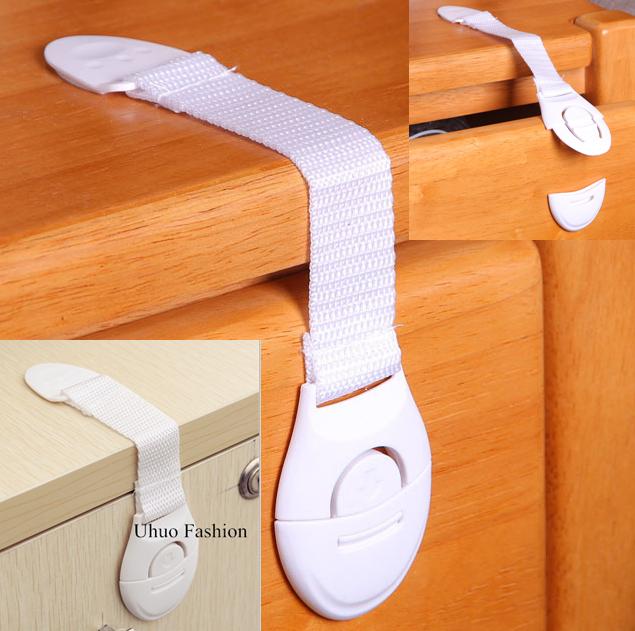 Lengthened Multi-function bendy Fridge Cabinet Door locks/straps Drawer Toilet Safety Plastic Lock Child Kids baby Care CHP187 - Uhuo Fashion Co. , Ltd store