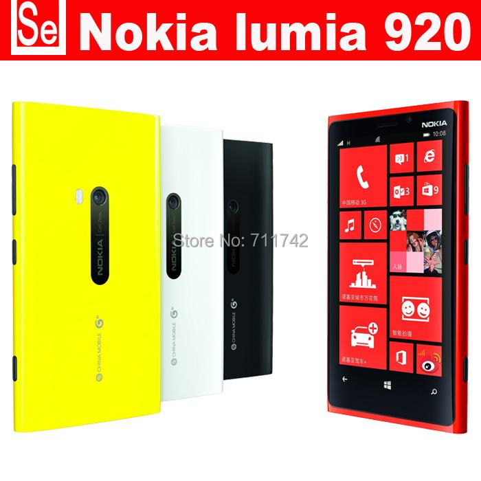 Refurbished Lumia 920 Unlocked 3G/4G Nokia 920 Windows Mobile Phone ROM 32GB 8.7MP GPS WIFI Bluetooth phone send case for free(China (Mainland))