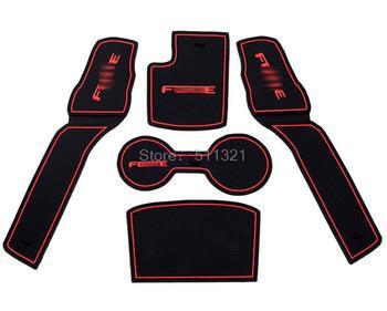 Fit for 2009 2010 2011 2012 KIA Forte Sedan Rubber Anti-slip Mats Pads Gate Slot Pad Interior Accessories Car Covers