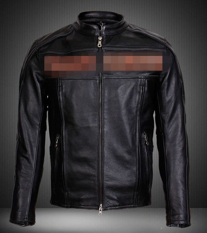Free shipping ! ! ! Men's casual fashion Slim Short motorcycle clothing racing suits Genuine Leather Jacket , (229) S-2XL(China (Mainland))