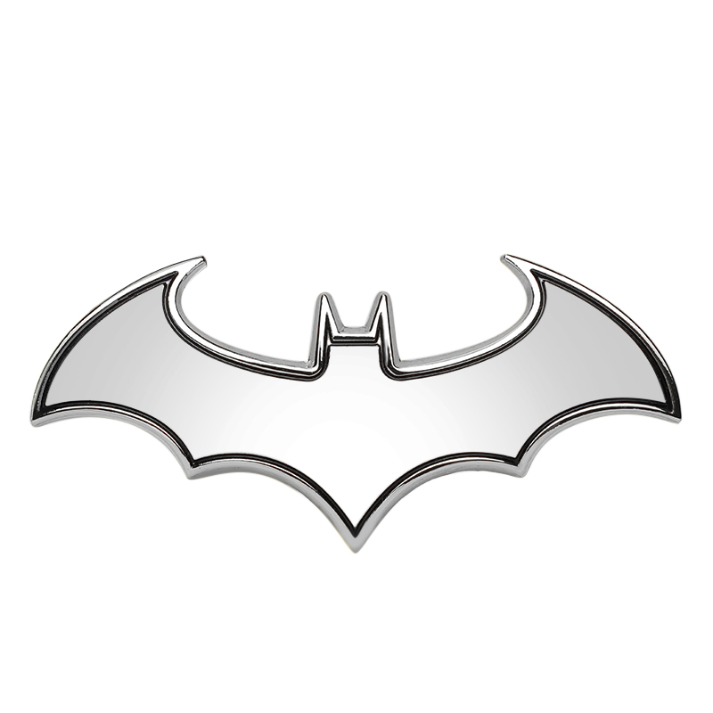 3D Car Stickers Cool Bat Metal Auto Logo Batman Badge Emblem Tail Decals Auto Decoration Accessories Car-styling(China (Mainland))