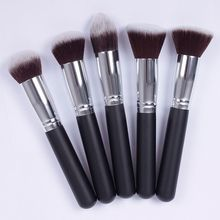 Free Shipping 2013 New Silver Soft Synthetic Large Cosmetic Blending Foundation Makeup Brush 01 #46616