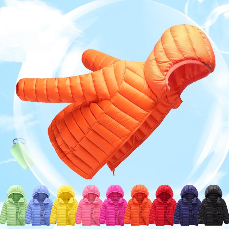 Boys outerwear Ultra light down coat 90%down Kids Parka girls warm clothes Casacos de inverno feminino Jaquetas Warm clothes