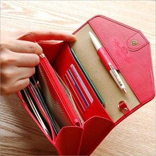 New Colored Multi wallets for women ladies pink black Phone dollar flat small wallets female purse womens money clip(China (Mainland))