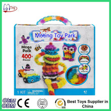 2016 Magic Puffer Ball 400 Pieces Accessories Build Mega Pack Animals DIY Assembling Spot Best Block Toy Sets For Children(China (Mainland))