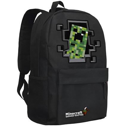 Retail hot free shipping 2015 HOT High Quality minecraft backpacks school bag,minecraft backpack g Birthday Gift Black color(China (Mainland))