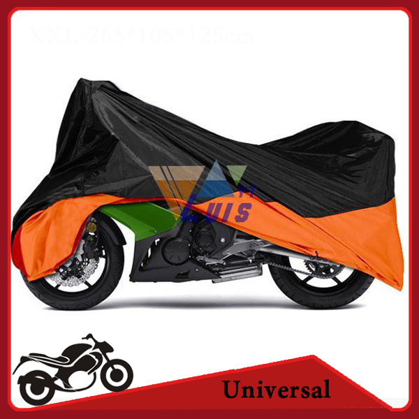 XXL Motorcycle Cover Waterproof Polyester Moto Bike Scooter Cover Protection Covering for Halrley FXDF DYNA FAT BOB STREET BOB(China (Mainland))