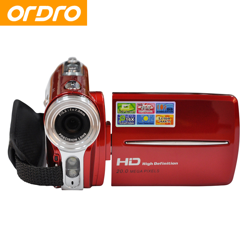 ORDRO HD 720P 16X Zoom 20MP Reflex Digital Photo Cameras Video Recorder CMOS Lens Professional Photo Camcorders(China (Mainland))