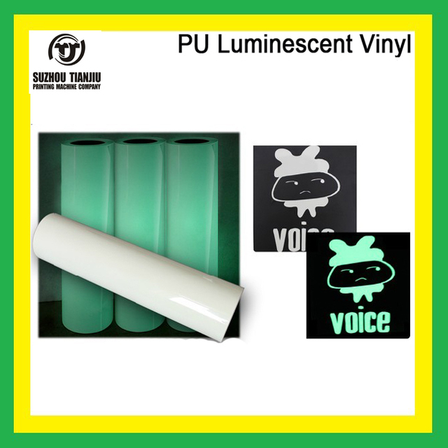 "TJ High-Quality Heat Transfer Vinyl PU Luminescent Vinyl For T Shirts Width 20"" X 1 meter hot sales"