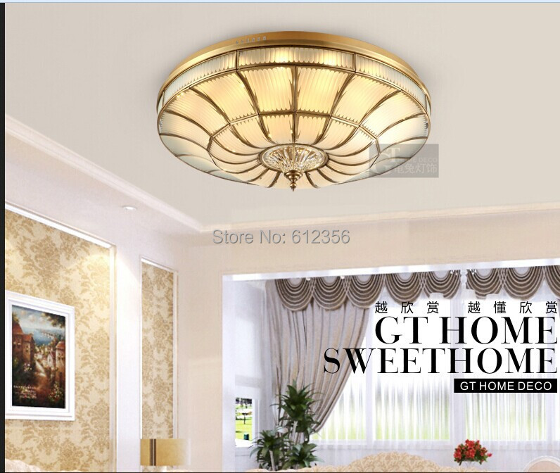 copper modern bedroom ceiling light lamps for home light fixtures