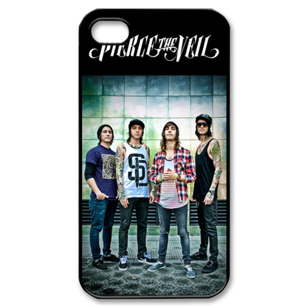 Free shipping ByHeart pierce the veil Hard Back Case Shell HARD cell phone Case Cover for 4 4S 5 5S 5G 5C(China (Mainland))