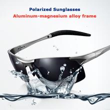 Aluminum-magnesium frame polarized polaroid driving fishing masculine black sunglasses men's car Driving sunglasses(China (Mainland))