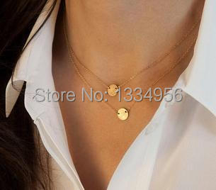 Fashion Gold Plated multi-layer necklaces Vintage sequins necklace body chain Long Pendant Necklaces Jewelry necklace women(China (Mainland))