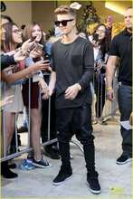For sm hjigy new arrival justinbieber trousers black leather pants