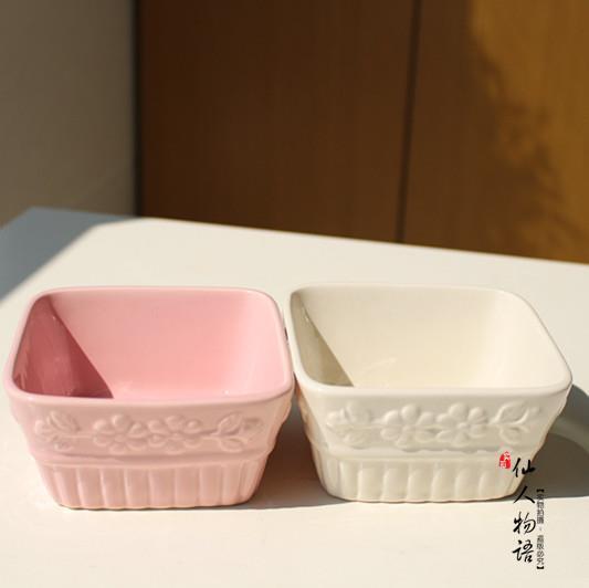White ceramic flower pot plants potted flower pots square for 6 ceramic flower pots