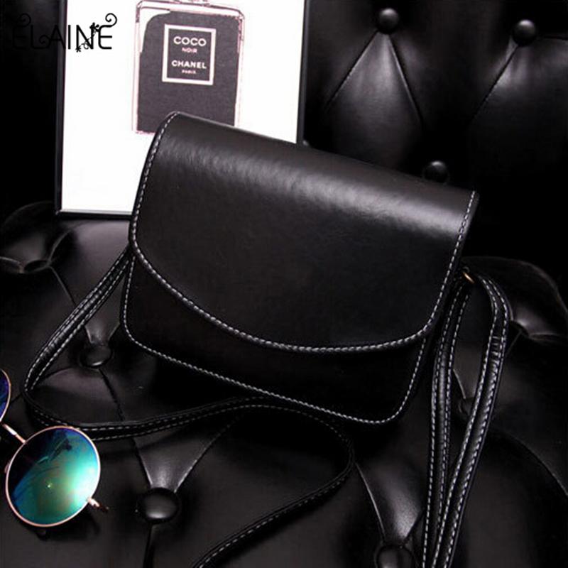 2016 mini women bags Oil wax PU leather women messenger bags small fashion shoulder handbags bag(China (Mainland))