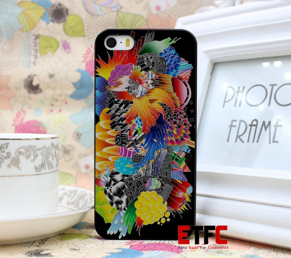 Illustrations for Ads Click corporate identity New Fashion Design Hard Black Skin for iPhone 5 5s 5g Case Cover(China (Mainland))