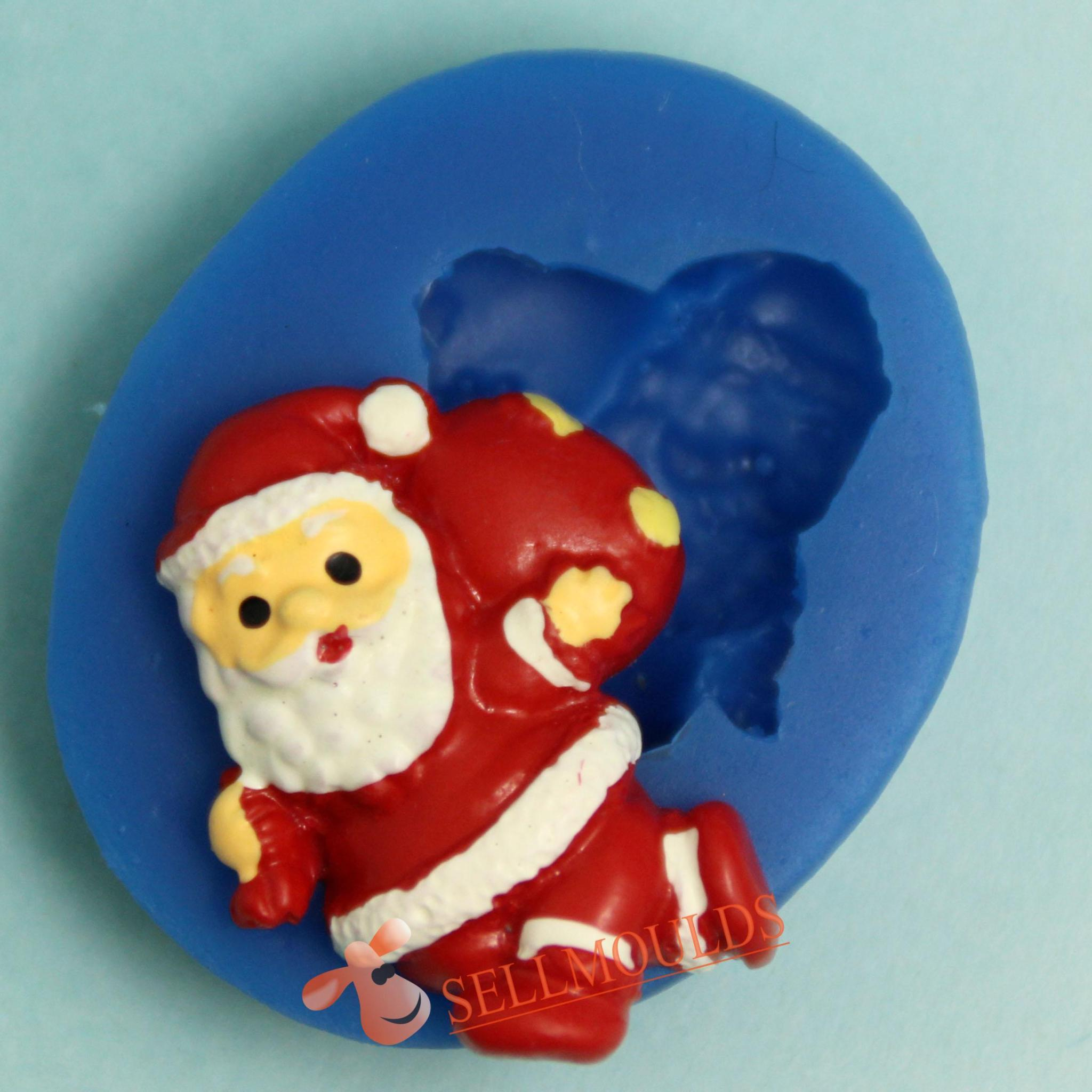 Santa Claus Christmas Silicone Mold 3D silicone Molds Cakes Chocolate Fondant BKSILICONE - Do It Yourself Store store