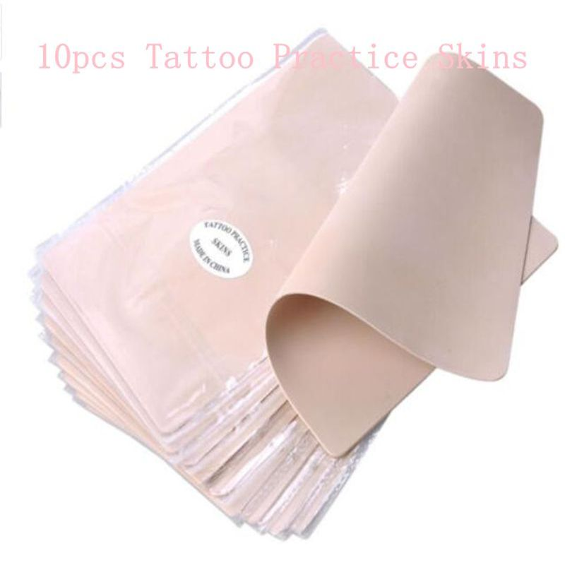 10pcs/lot Permanent Makeup Tattoo Practice Skins Blank Tattoo Practice Fake Skins Best Quality Double Sided For Beginner Artists(China (Mainland))