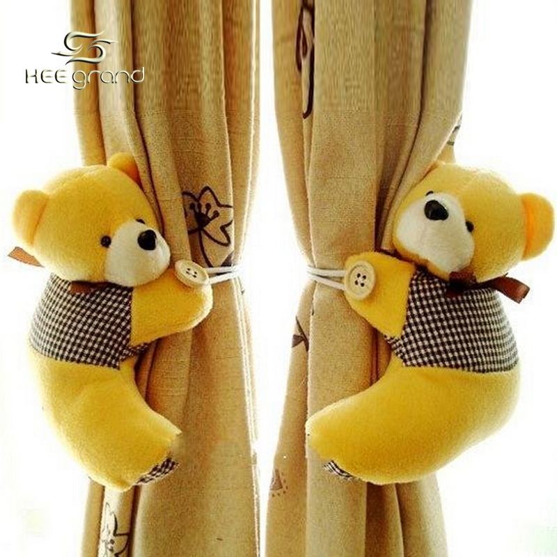 Wholesale Fashion Tieback Window Curtain Hook Litter Bear Curtain Buckle Belt F122(China (Mainland))