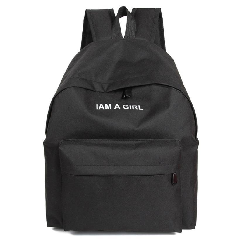 JECKSION Unisex Boys Girls Canvas Backpack 2016 Fashion Rucksack School Shoulder Bag #1(China (Mainland))