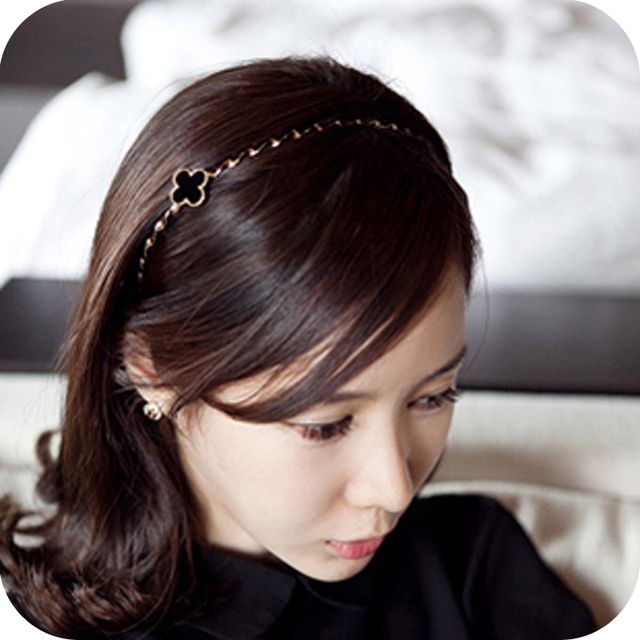 Fashion  accessories four leaf clover  hair pin headband hair bands free shipping