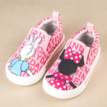 cartoon baby shoes daisy duck minnie newborn causal flat canvas shoes for bebe 1-3yrs infantil causal outdoor shoes hot sale(China (Mainland))